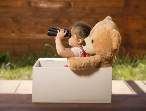 Bij wie is een vrolijk 3- jarig meisje welkom?