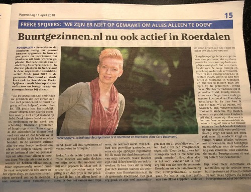 Buurtgezinnen.nl nu ook actief in Roerdalen – VIA Limburg