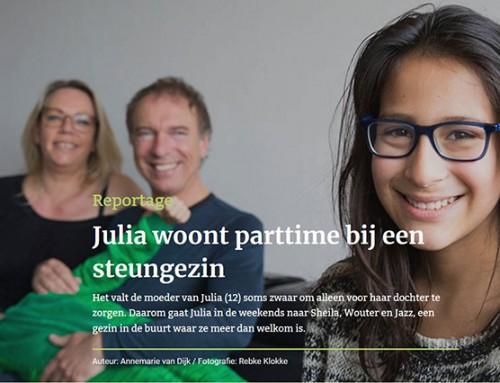 Julia woont parttime bij een steungezin – Augeo Magazine