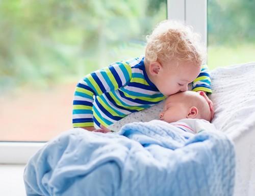 Welk steungezin vangt twee vrolijke jongetjes (van bijna 2 en 4 mnd) af en toe op?